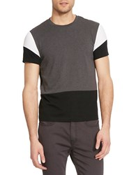 Kenneth Cole Short Sleeve Colorblock T Shirt Black Combo