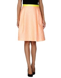 Jonathan Saunders Knee Length Skirts Salmon Pink