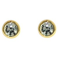 Finesse Sparkly Crystal Stud Earrings Gold