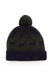 Forever 21 Mixed Print Pom Beanie