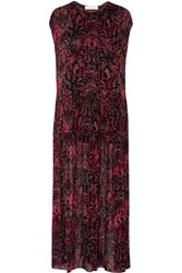 Iro Agneska Paisley Print Georgette Maxi Dress Black