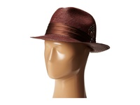 Stacy Adams Toyo Fedora With Snap Brim And 3 Pleat Silk Band Brown Fedora Hats