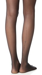 Wolford Loveletter Tights Black Jet Hematite