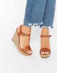 New Look Strappy Wedge Sandal Tan