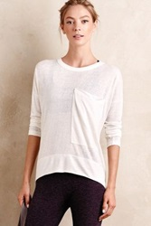 Anthropologie Gauzy Pocket Tee White