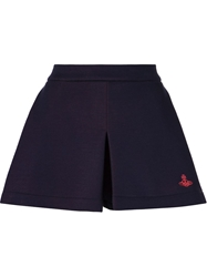 Vivienne Westwood Anglomania Pleated Shorts Blue