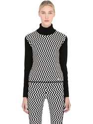 Jet Set High Collar Zigzag Sweater