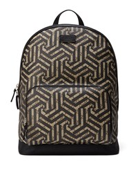 Gucci Gg Caleido Canvas Backpack Black Brown