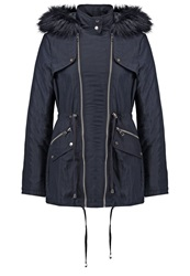 Lipsy Winter Coat Navy Dark Blue