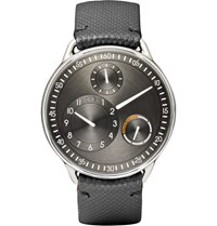Ressence Type 1 R Titanium And Leather Watch Black
