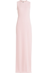Halston Crepe Gown With Cut Out