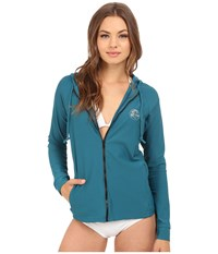 O'neill Tech Long Sleeve Zip Hoodie Deep Teal Deep Teal Women's Sweatshirt Blue