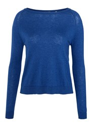 Marella Gerico Pleated Back Sweater Cobalt