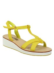 Betsy Platform T Bar Sandals Yellow