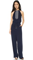 Tory Burch Embellished Jumpsuit Tory Navy