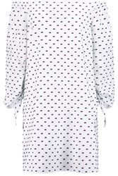 Iris And Ink Dobby Off The Shoulder Fil Coupe Dress White