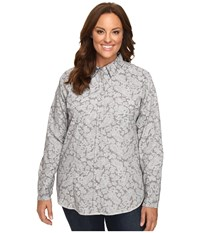 Roper Plus Size 0440 Regal Line Paisley Grey Women's Clothing Gray