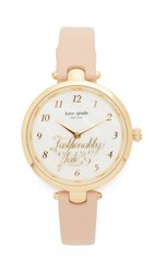 Kate Spade Holland Fashionably Late Watch Pink Gold