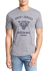 Brixton Men's 'Rydell' Graphic Crewneck T Shirt