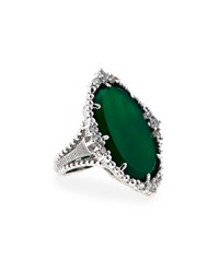 Judith Ripka Sophia Chalcedony And Sapphire Ring Green