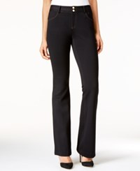 Inc International Concepts Contrast Stitch Bootcut Pants Only At Macy's Deep Black