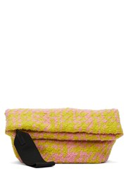 Marni Woven Wool Jacquard Bundle Bag Yellow