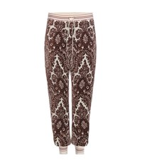 Chloe Printed Velour Track Pants Multicoloured