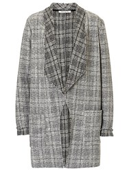 Betty Barclay Unlined Check Jacket Grey