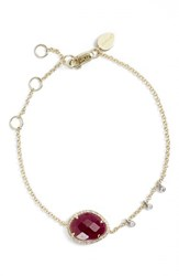 Women's Meira T Diamond And Semiprecious Stone Bracelet Yellow Gold Ruby