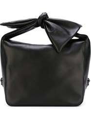 Versace Bow Handle Tote Black