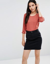 Vero Moda Burnt Orange Midi Top Marsala
