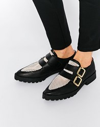 Miista Bhu Buckle Leather Flat Shoes Pink