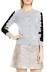 Vince Camuto Women's Lace Trim Cotton Blend Cardigan