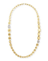Diamond Lunaria 18K Gold Necklace 36'L Marco Bicego Red