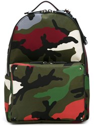 Valentino Camouflage Backpack Multicolour