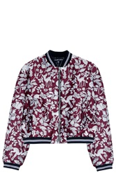 Markus Lupfer Woodland Bomber Jacket Purple
