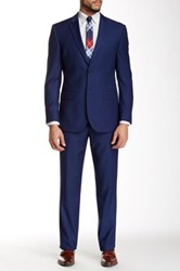 Nicole Miller French Blue Two Button Notch Lapel Suit