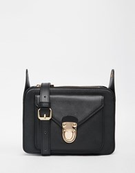Monki Gold Clasp Cross Body Bag Black