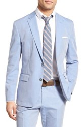 Hugo Boss 'Justo W' Trim Fit Solid Cotton Sport Coat Blue
