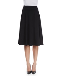 Escada Mid Length Circle Skirt Black