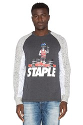 Staple For The Luv L S Tee Charcoal