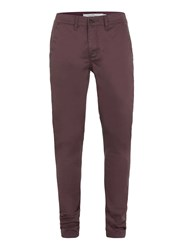 Topman Burgundy Stretch Skinny Chinos Red