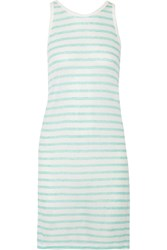 Alexander Wang Striped Jersey Dress Green