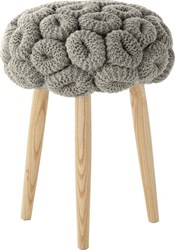 Gandia Blasco Knitted Rings Grey Stool