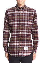 Thom Browne Men's Tartan Plaid Flannel Shirt