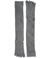 Toesox Casual Full Toe Knee High Fishnet Storm Women's Knee High Socks Shoes Gray