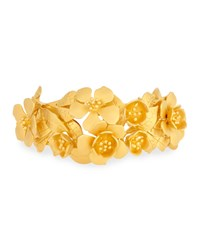 Valentino Golden Garden Party Cuff Bracelet Size Medium Gold