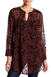 Tracy Reese Pintuck Silk Tunic Red