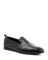 H By Hudson Ipanema Woven Loafers Black