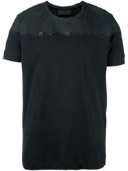 Diesel Black Gold Colour Block T Shirt Black